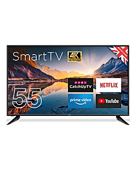 Cello 55in Smart 4K UHD TV with Freeview