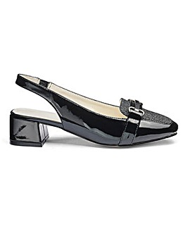 Heavenly Soles Slingback Shoes E Fit