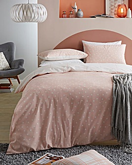 Opal Coral Polka Dot Duvet Cover Set