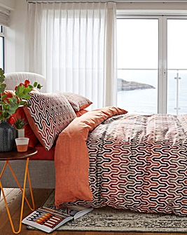 Riley Terracotta Duvet Cover Set