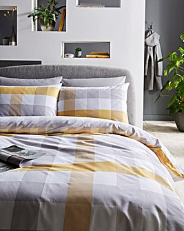 Monty Ochre Duvet Cover Set