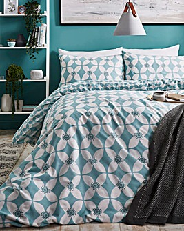 Rhea Duckegg Reversible Duvet Cover Set