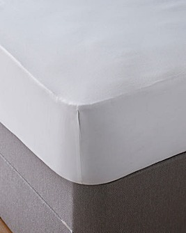 Cool 350 Thread Count Cotton Tencel 40cm Extra Deep Fitted Sheet