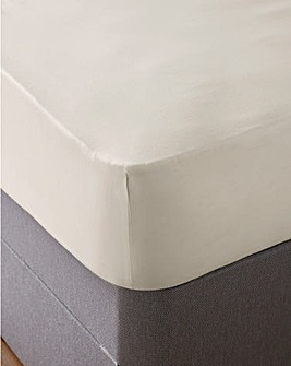 Cool 350 Thread Count Cotton Tencel 35cm Fitted Sheet