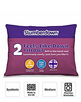 Slumberdown Feels Like Down Pillow Pair