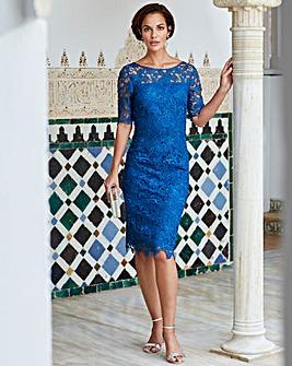 Joanna Hope Heavy Guipure Lace Dress