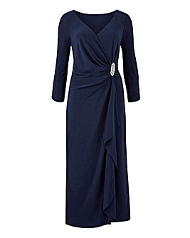 Joanna Hope Diamante Trim Midi Dress