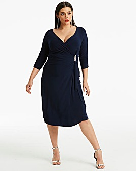 Joanna Hope Diamante Trim Midi Dress
