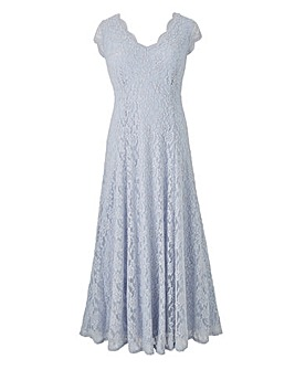 Joanna Hope Maxi Scallop Lace Dress