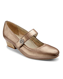 Heavenly Soles Touch and Close Bar Court Shoes Wide EE Fit