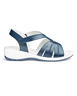 Leather Wedge Comfort Sandals EEE Fit