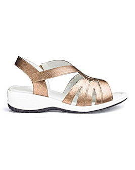 Leather Wedge Comfort Sandals E Fit