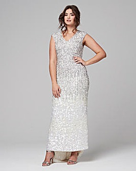 122cdb38f017b Joanna Hope Sequin Maxi Dress