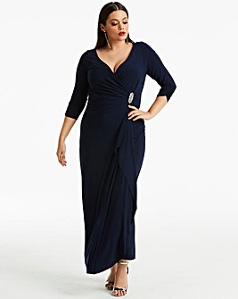 Joanna Hope Diamante Trim Maxi Dress