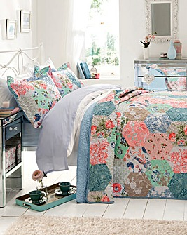 Harriet Patchwork Throwover & Pillowsham