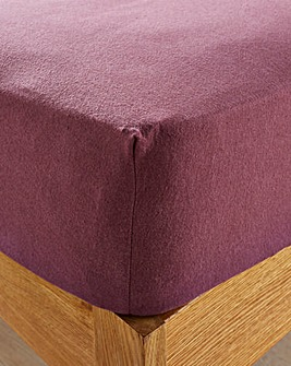 Supersoft Brushed Cotton 30cm Fitted Sheet