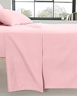 Extra Wide Cotton Flannelette Flat Sheet