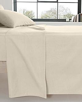 Extra Wide Brushed Cotton Flat Sheet