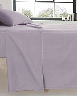 Extra Wide Brushed Cotton Flat Sheet