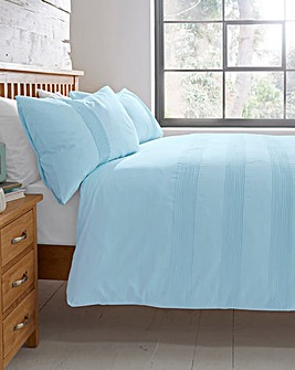 Plain Dye Cotton Pleat Duvet Cover Set