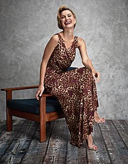 Gina Bacconi Alesana Print Maxi Dress