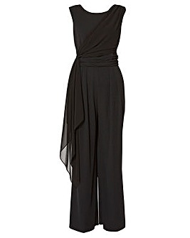 Trisha Chiffon And Crepe Jumpsuit