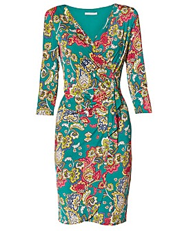 Stasia Paisley Jersey Dress