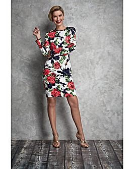 Gina Bacconi Kinga Floral Print Dress