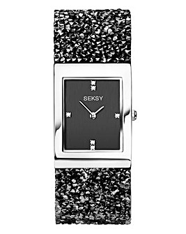 Seksy Rocks Ladies Watch Black/Silver