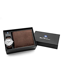 Ben Sherman Watch & Wallet Brown