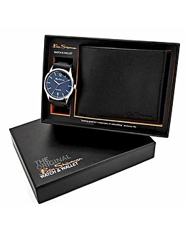 Ben Sherman Watch & Wallet Black