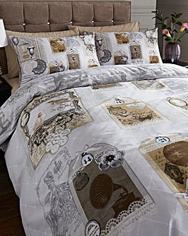 Antique Collage Duvet Cover Set