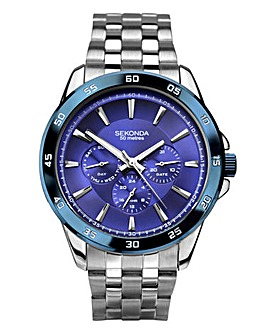 Sekonda Gents Blue Face Bracelet Watch