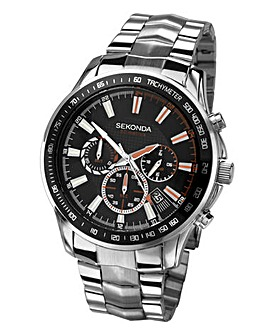Sekonda Gents Black Face Bracelet Watch