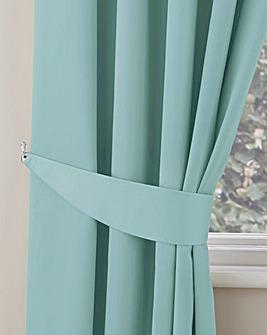 Plain-Dye Sateen Tie-Backs