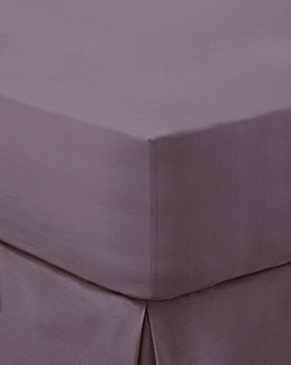 200 TC Plain Dyed Percale Fitted Sheet
