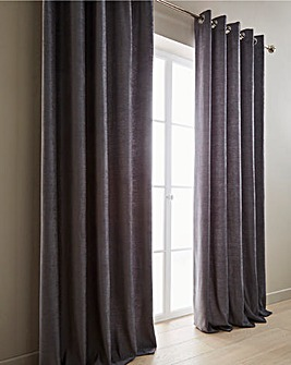 Sara Heavyweight Luxury Chenille Lined Eyelet Curtains