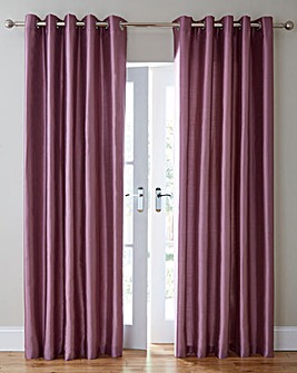 Faux Silk Blackout Long Eyelet Curtains
