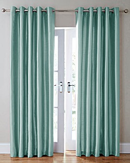 Faux Silk Eyelet Curtains