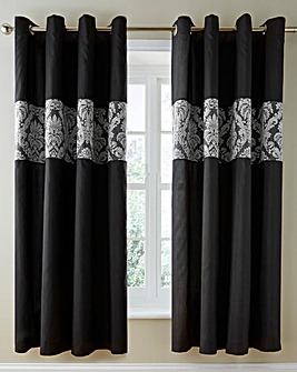 Pheobe Jacquard Lined Eyelet Curtains
