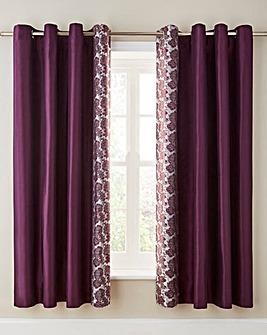 Astrid Embellished Lined Eyelet Curtains