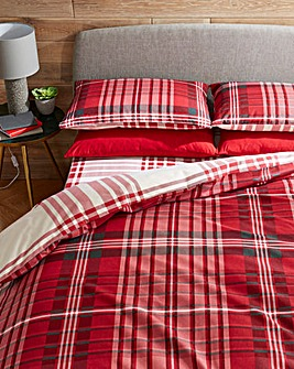 Logan Check Brushed Cotton Duvet Set
