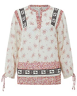 Monsoon Delphine Ditsy Print Patch Top