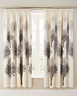 Woodland Cotton Lined Curtains