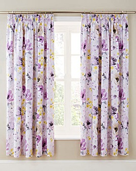 Heidi Cotton Lined Pencil Pleat Curtains