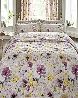 Heidi 180 Cotton Percale Printed Quilted Throw 244 x 264cm