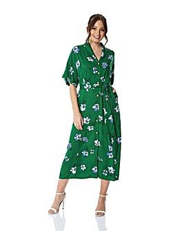 Roman Floral Button Through Maxi Dress