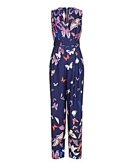 Yumi Curves Butterfly Print Jumpsuit