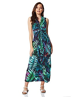 Roman Tropical Print Maxi Dress