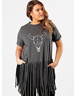 Koko Fringe Detail T-Shirt